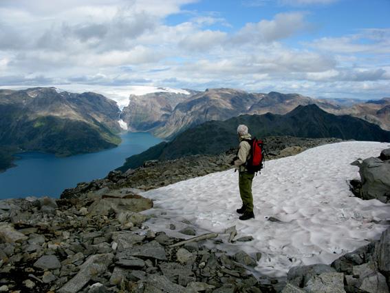 Udsigt over mod Øksfjordjøkelen