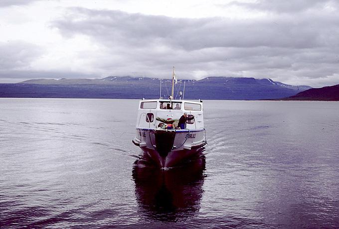Båd fra Akka over Akkajaure til Ritsem