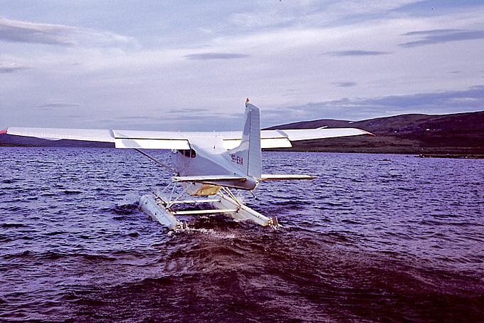 Vi vinker farvel til vores vandflyver