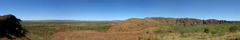 Panoramaudsigt ud over Keep River Nationalpark